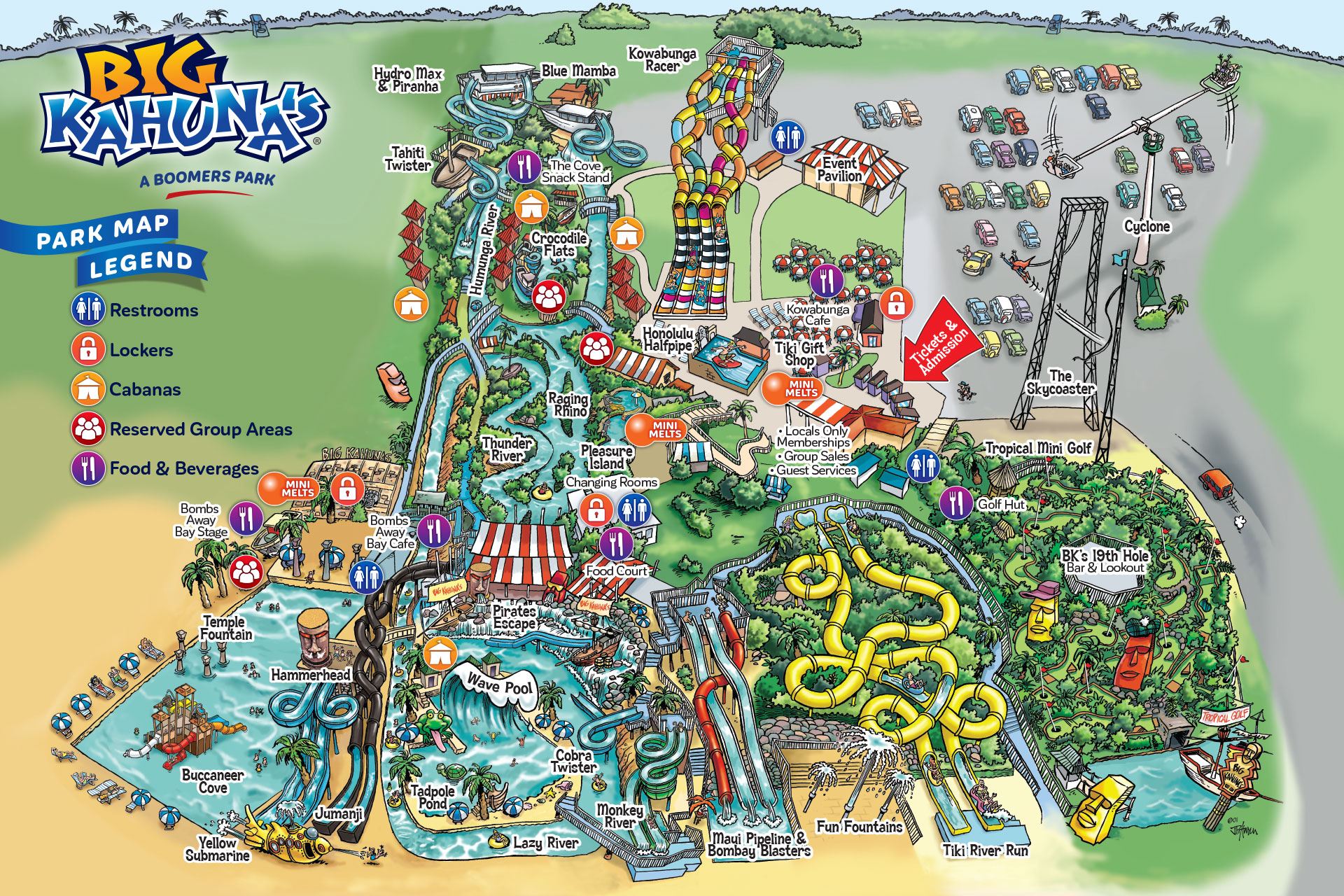 Big Kahunas Park Map